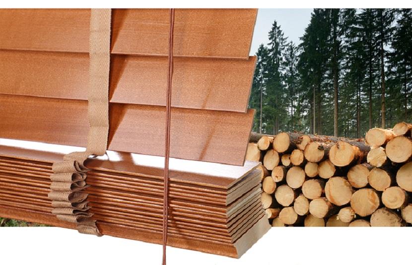 Chất lượng gỗ của rèm gỗ tại Rèm Tốt được nhập khẩu cao cấp