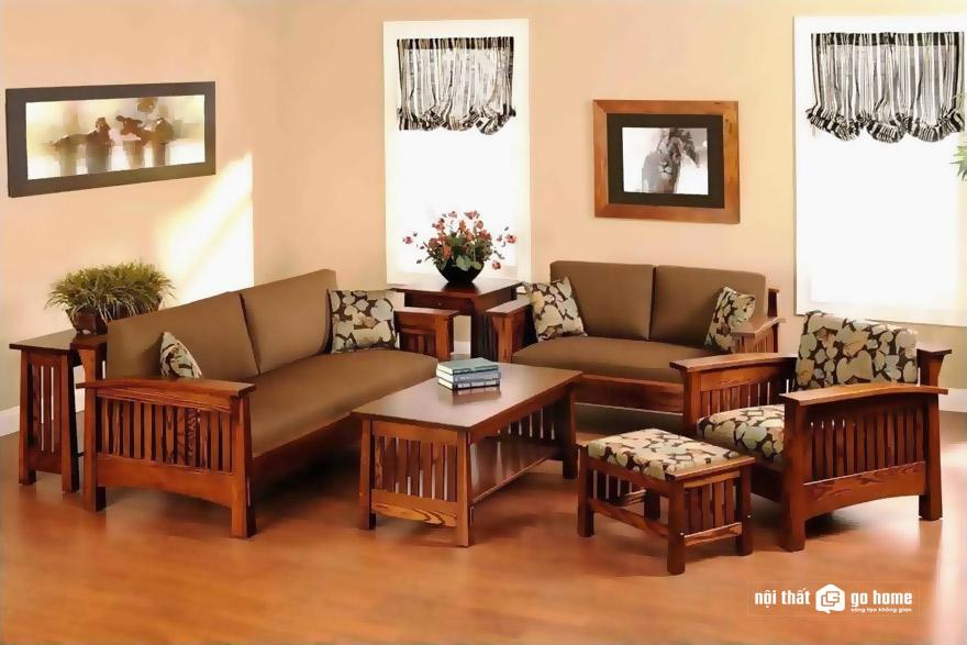 Kích thước bàn ghế sofa gỗ