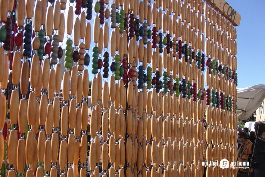 Mẫu rèm hạt gỗ đẹp 15
