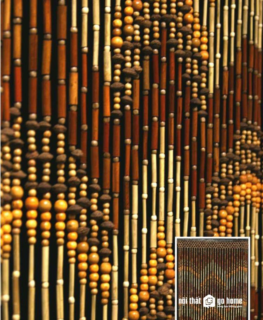 Mẫu rèm hạt gỗ đẹp 2