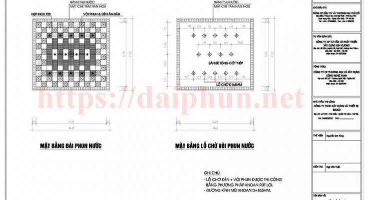 Bản vẽ thiết kế đài phun nước Tafuma Việt Nam