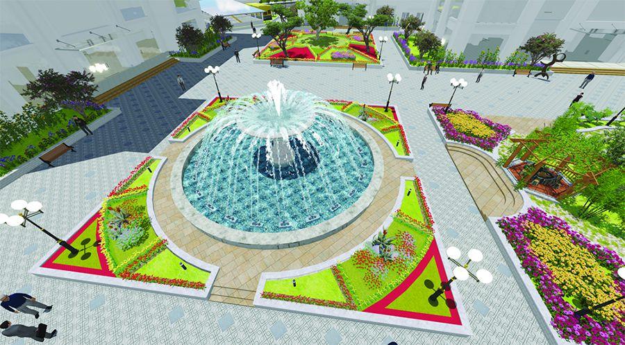 Thiết kế đài phun nước Tafuma Việt Nam