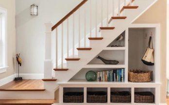 Kệ sách kết hợp cầu thang đầy sức sáng tạo