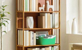 Kệ sách đẹp thường sản xuất từ chất liệu gỗ